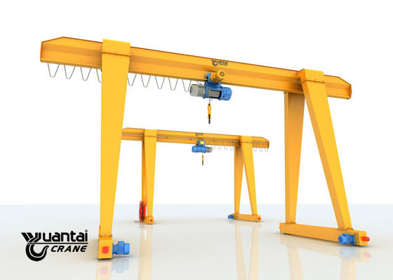 Wire Rope Single Girder Gantry Crane 7.5 - 32 M Span With Speed Adjusting Function