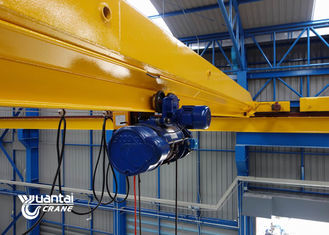3 Phase Single Girder Overhead Crane Strong Rigidity For Machinery Fabrication